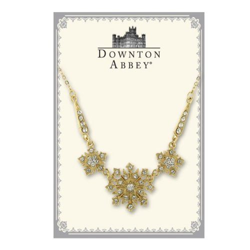 Downton Abbey Collection Gold Starburst Statement Necklace 17544