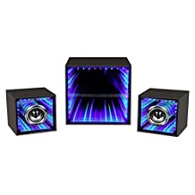 Leading Edge Novelty LIS300 Infinity Light Bluetooth Speaker with Subwoofer - 3 Piece