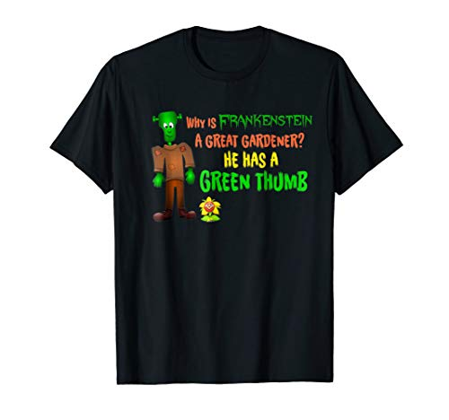 Cute Frankenstein Bad Corny Halloween Joke T-shirt Kids