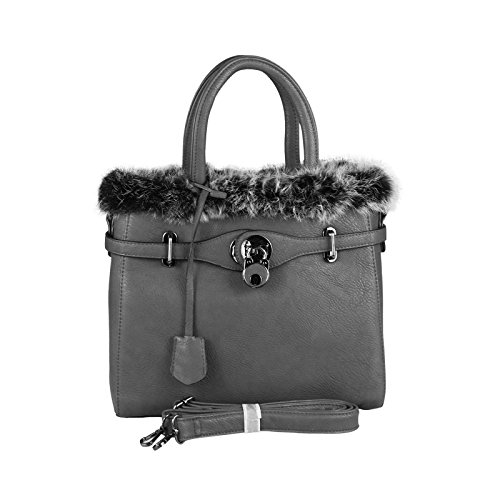 OBC Only-Beautiful-Couture - Bolso al hombro para mujer gris gris oscuro ca.: 30x26x12 cm (BxHxT) gris oscuro