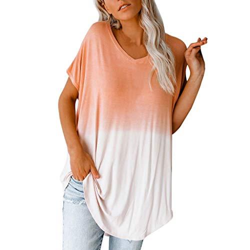 (Long Sleeve Shirt Women Short Sleeve Shirt Women 98s Shirts for Women Summer Tops for Women Orange)