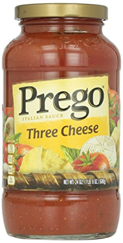 Prego Italian Sauce, Three Cheese, 24 Ounce