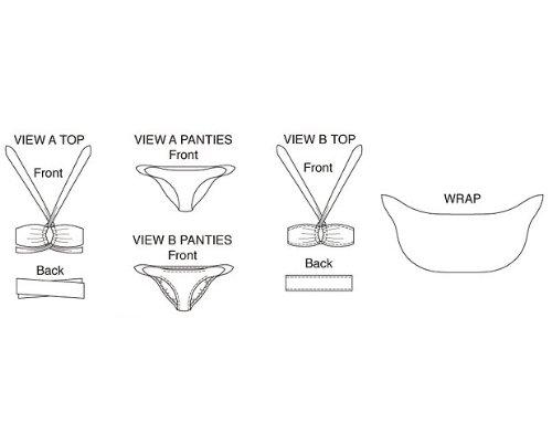 KwikSew Schnittmuster 3417 Bikini Gr. XS-L: Amazon.de: Küche & Haushalt