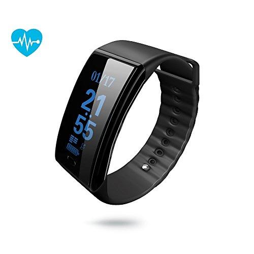 Fitness Tracker,Waterproof Heart Rate Smart Bracelet Watch Pedometers Sports Gadgets Health Tracker for Kids Men Women Boys and Girls (black)