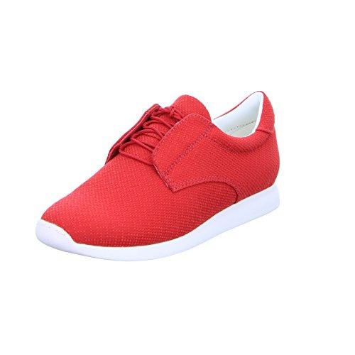 Vagabondo Da Donna Sneaker Kasai 2.0 Stringato Rosso In Pelle Tessile Rosso (rosso)