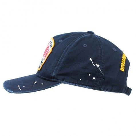 9e11b8491 DSquared prison baseball cap Navy One: Amazon.co.uk: Clothing