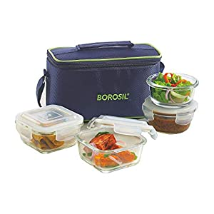 Borosil lunch box set of 4 Universal, Microwave Safe Office Tiffin