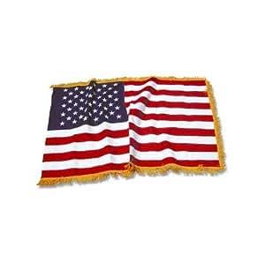 Indoor American Flag - Cotton - Pole Hem and Fringe