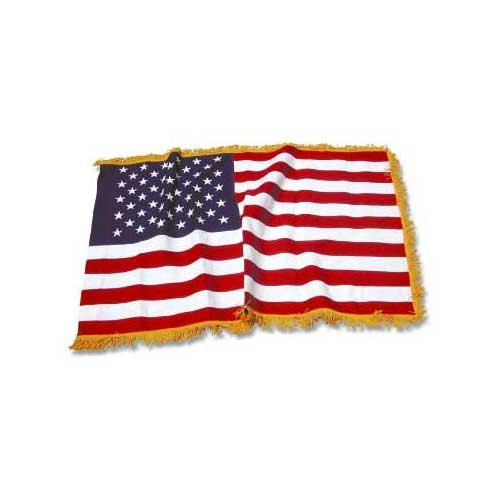 US Flag Store USA 4x6ft American Flag with Indoor Pole Hem and (Gold Fringe American Flag)