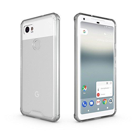 Google Pixel 2 Xl Bumper Case Frame   Olixar Exoshield   Tough Hard Cover With Shock Protection   Clear