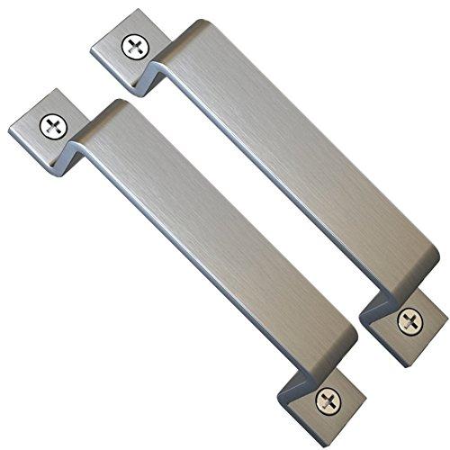 Sliding Barn Door Handle Pull Set | Black Steel or Stainless Steel | Screws Included by Amazawn