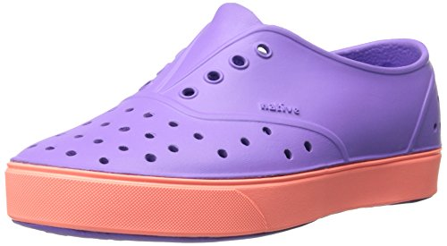 Native Miller Junior Slip-On ,Techno Purple/Popstar Orange,3