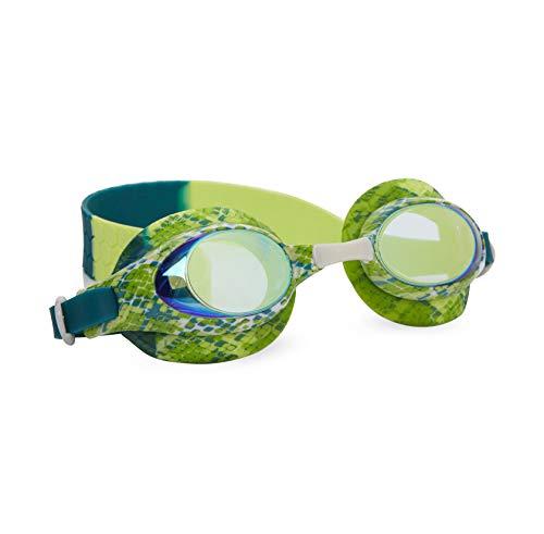Bling 2O Kids Swimming Goggles - Green Snake Theme Swim Goggles for Boys - Anti Fog, No Leak, Non Slip, UV Protection with Hard Travel Case - 8+