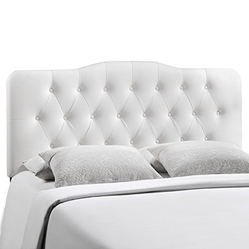Modway Annabel Upholstered Tufted Button Vinyl Headboard King Size In White