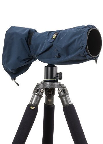 LensCoat RainCoat RS for Camera and Lens Cover sleeve protection, Large (Navy) LCRSLNA