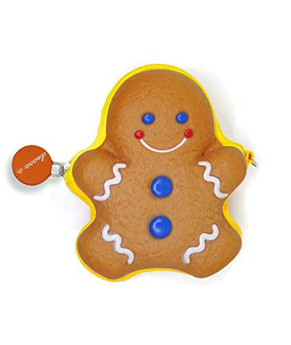 decca c. Cookie Scented Gingerbread Man Cute Coin Purse Novelty.