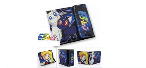 [Sailor Moon Cats Bifold Snap Wallet - Luna and Artemis] (Sailor Moon Cat Costume)