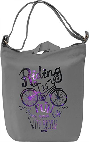 Riding Is Fun Borsa Giornaliera Canvas Canvas Day Bag| 100% Premium Cotton Canvas| DTG Printing|