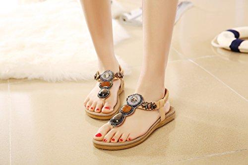 Gemstone DQQ Bohemian Sandal Thong apricot Women's ECxqwaC7A