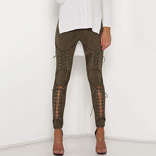 Lacets Pour À Pantalon Automne Cuir Daim Leggings En Femmes Femmes Ojjfj xwYSnaq84