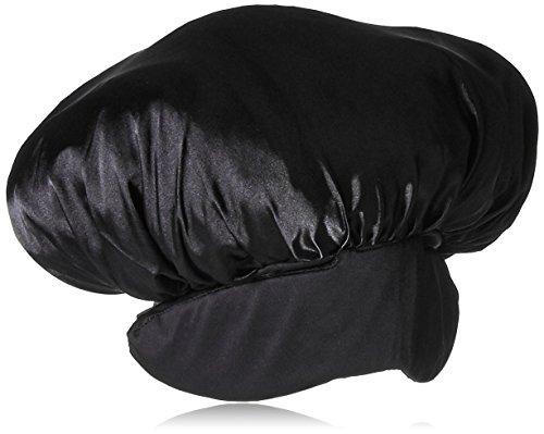 pHusion Luxury Satin Hair Bonnet Plus Black MC