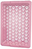 Shake and Rake 17 by 14 by 5-Inch Recyclable Plastic Manual Cat Litter Sifter, Pink, My Pet Supplies