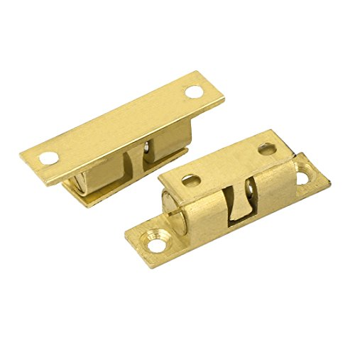 Double Cupboards Door (uxcell Cupboard Cabinet Door Roller Double Ball Catch Latch 39mm Long 2 Pcs)