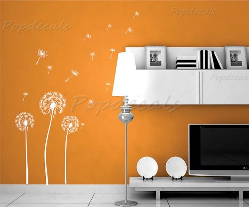 Cheap  White Huge Dandelion - Beautiful Wall Decals for Kids Rooms Teen Girls..