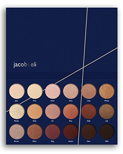 18 Super Pigmented High Quality - Top Influencer Professional Eyeshadow Palette all finishes, 5 Matte + 9 Shimmer + 4 Duochrome - Buttery Soft, Creamy Texture, Blendable, Long Lasting Stay (Bare)