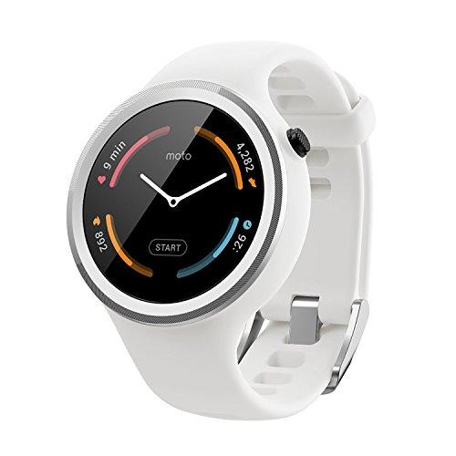 Motorola Moto 360 Sport Smartwatch 45mm Silicone White 00866NARTL
