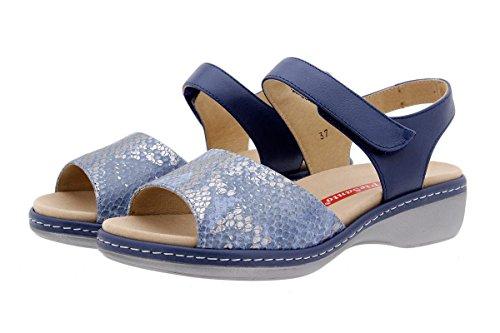 Calzado mujer confort de piel Piesanto 1807 Sandalia Plantilla Extraíble cómodo ancho Jeans