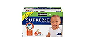 kirkland signature supreme diapers size 6 quantity 120 baby. Black Bedroom Furniture Sets. Home Design Ideas
