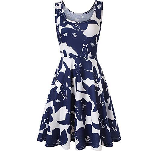 Verano Mujer azul Fiesta Elegante Damark TM de Vestido Largo Maxi Vestidos Playa Vestido Playa Mujer Sundress Boda Casual 10 de Boho Falda Noche Mujer Maxi Noche Z3 Y6w6Fa