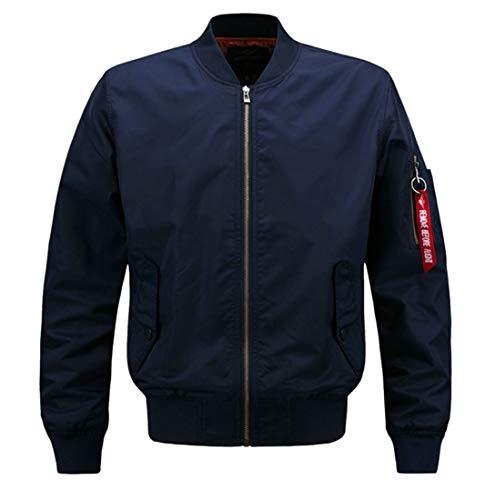 Long Men's Zip Jacket Classic Bomber Sleeves EKU Coats up 1 Rn1pUWXX