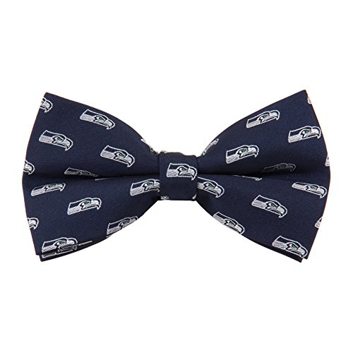 NFL Seattle Seahawks Men's Woven Polyester Repeat Bowtie, One Size, Multicolor
