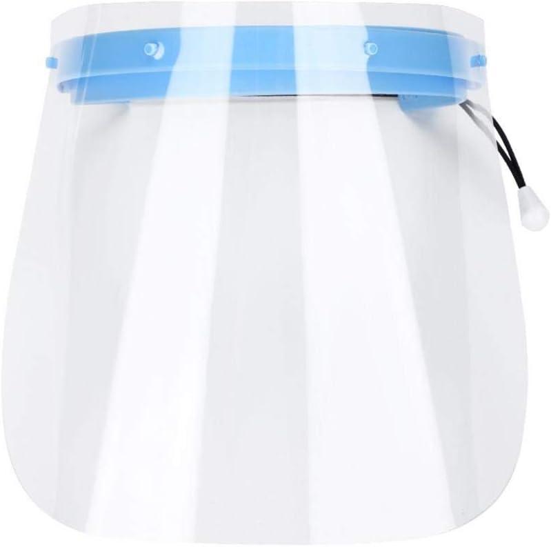 XXZ Visera Protectora para la Cara pl/ástico Ligero Ajustable Transparente para Evitar la Saliva Gotas Polen y Polvo 5 Unidades