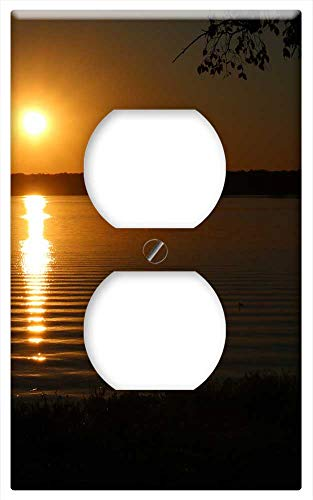 Switch Plate Outlet Cover - Dallas Tx Sundown Sunset Nature Lake Water Peace