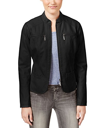 Jou Jou Faux-Leather Motorcycle Jacket