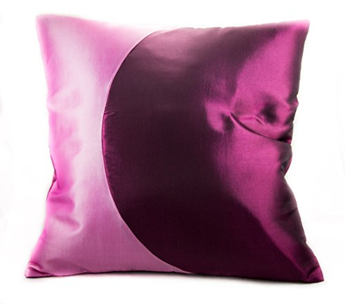 Narphosit Curve and 2 Tone Color Cushion Cover/throw Pillow Case 16x16 (Pink) (French Setee)