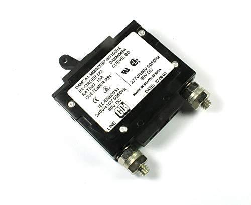 (BLK #2) CBI Magnetic Circuit Breaker, 15 Amps BD Curve, 80VDC 240V 415V 277V 480v HY-MAG