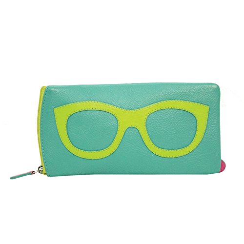 Women's Leather Eyeglasses Case - Zipper Close - 7