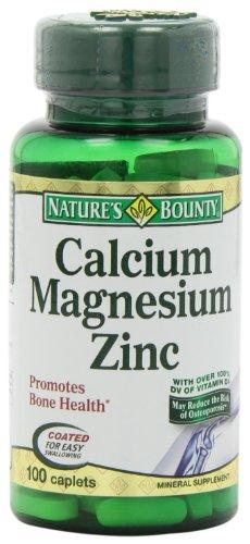 Natures Bounty Calcium-magnesium-zinc Caplets 100-Count