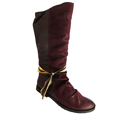 Knee Wax Leather Composition smallux Women's Felmini Boots High 8F1Uqvqp