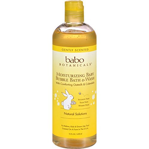 Babo Botanicals Oatmilk Calendula Moisturizing Baby Bubble Bath and Wash, 13.5 Ounce ( Multi-Pack)