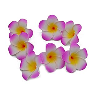 VDV Artificial Flowers 10Pcs/lot Plumeria Hawaiian PE Foam Frangipani Artificial Flower Headdress Flowers Egg Flowers Wedding Decoration Party Supplies Blue Flowers Artificial-H05 17
