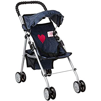 Amazon Com My First Doll Stroller Denim For Baby Doll