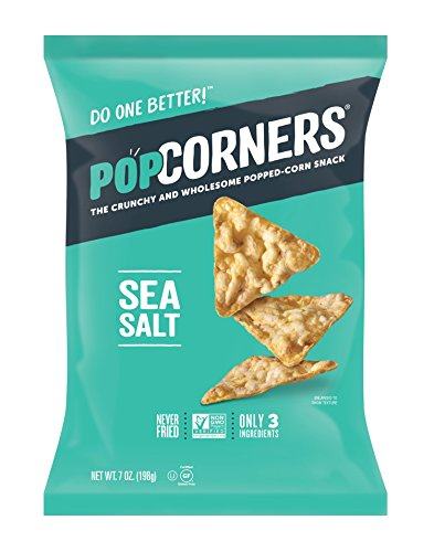 Popcorners Sea Salt Popped Corn Snacks, Gluten Free, Non-GMO, 7oz bags (Pack of 12), Sea Salt of the Eunce Pack (ASINPPOSPRME38208)