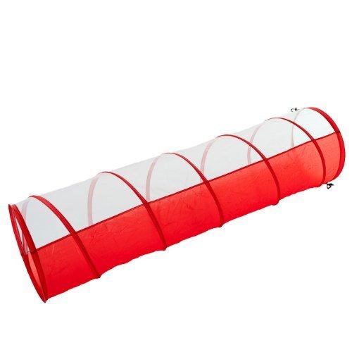 Rouge//blanc 180 x 48 cm Tunnel de jeu pour chiots
