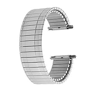 Voguestrap TX267W Allstrap 18-22mm Silver Regular-Length Thin Wide Expansion Watchband
