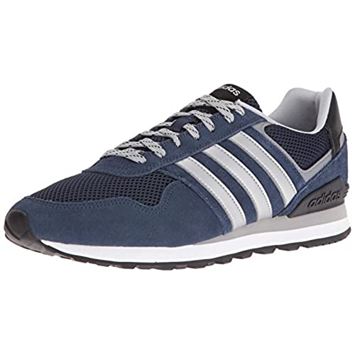 adidas Men's 10K Fashion Sneakers, Collegiate Navy/Matte Silver/Light Onix,  (11 M US)